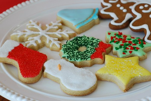 Marzipan 5 Days Till Christmas Decorated Sugar Cookies With