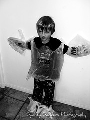 suzannes pictures 747 (PHoToGrApHeR is...sydney) Tags: silly cute monster bag kid scary funny brother haha bags vons