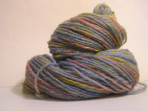 Handspun yarn: Sunset