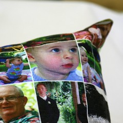 photo pillow detail