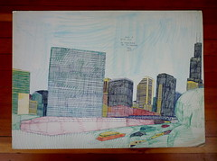 wesley willis drawing (S EICHHORN) Tags: chicago wesleywillis wesleywillischicago