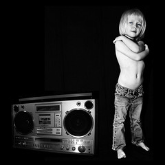 I can't live without my radio (::big daddy k::) Tags: cute girl kid frankie attitude 80s hiphop rap boombox llcoolj icantl