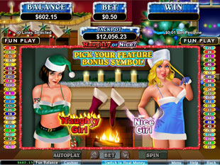 free Naughty or Nice slot bonus game