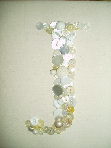 J button wall hanging