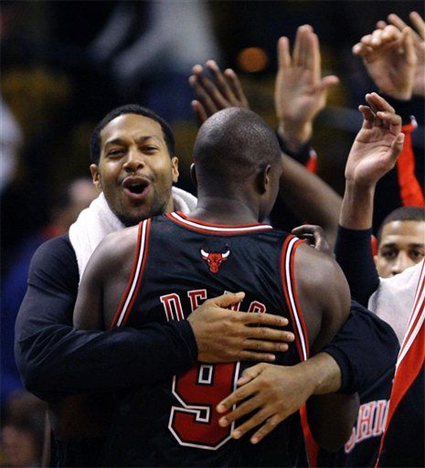 Luol Deng definitely deserved a hug after abusing Paul Pierce.