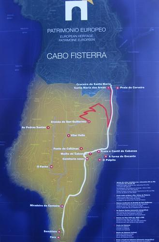 Mapa de Cabo Fisterra
