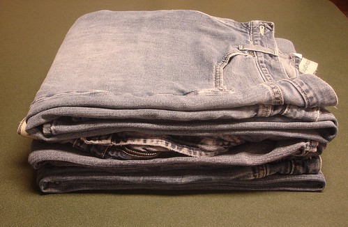 Folded Stack of Jeans