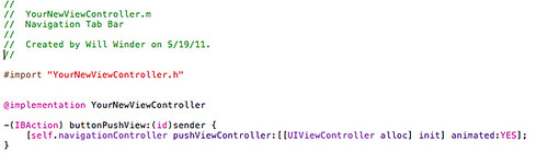 9. Tell the navigationController to push a new View Controller