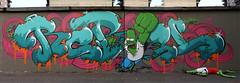 REBEL HULK VS HULK HOMER (REBEL PHANTOM) Tags: rebel graffiti milano simpsons bn crew homer boogie nights hulk phantom 2011