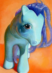 Pretty Pony (allan_innman) Tags: orange vintage painting toy pop plastic mylittlepony realism oiloncanvas photorealism