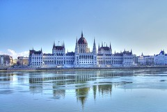 Hungarian Parliament Building (mmalinov116) Tags: hungary building budapest river capital city architecture blue унгария будапеща parliament old gothic