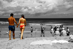 I'm in love with my best friend... (RiCArdO JorGe FidALGo) Tags: love praia beach portugal cutout landscape couple europa amor sintra paisagem amour casal nwn praiadasmas canoneos400ddigital