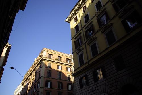 로마에서의 첫 아침 하늘