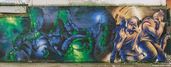 Fear (Tony Likes You Scared) (2002) (SHOK-1) Tags: urban streetart london art wall painting underground graffiti mural outsiderart outsider fear politics tube manipulation tonyblair urbanart characters spraypaint organic aerosol bricklane shok eastend shok1 scaremongering dreph organicstyle organicgraffiti