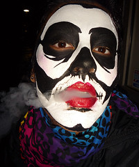 Random - Death Smokes [2] (NicholeCamarillo.com) Tags: night paint smoke facepaint cigarettesmoke portraitofface nicholecamarillo nicholecamarillocom