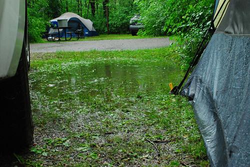 lake under tent