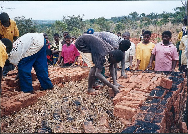 Instruction in building a brick kiln