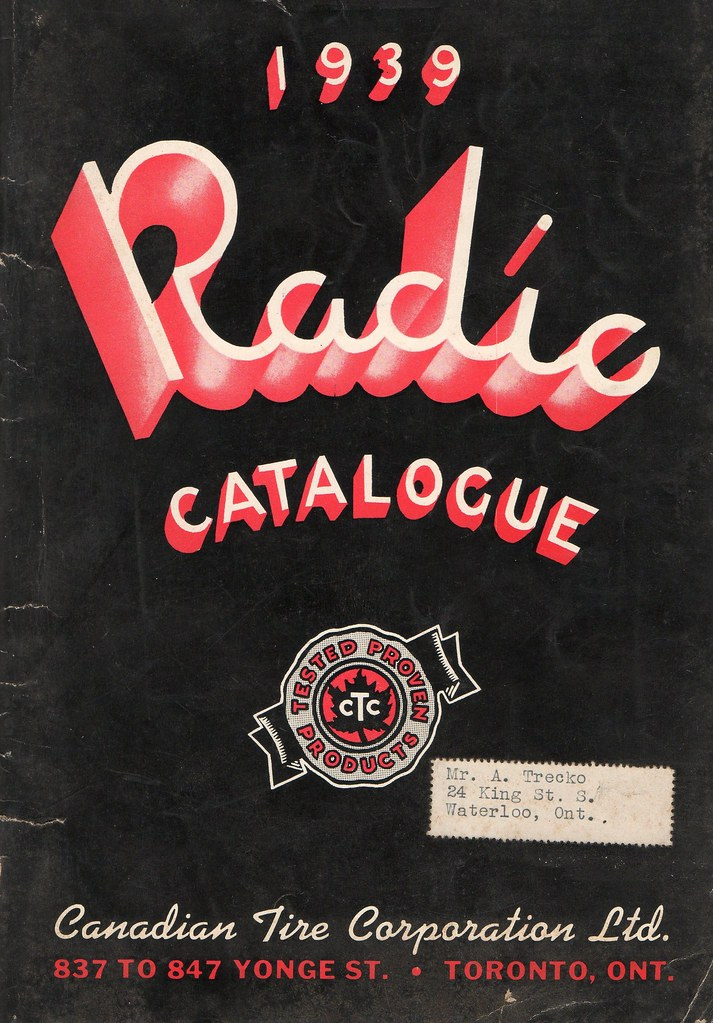 1939 Canadian Tire Radio Catalogue