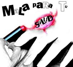 Mala para tu Salud. (EX-CUENTA Pau Pepper) Tags: pink red white black blanco rojo para negro bad lips labios tu mala pinta salud