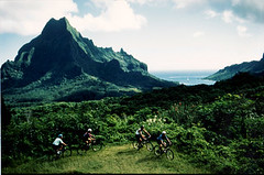 Mountain Biking at Belvedere, Moorea, Tahiti