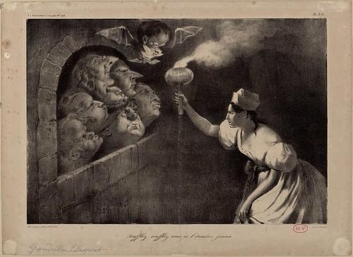 La Caricature .. Soufflez, soufflez, vous ne l'eteindrez jamais (Grandville AND Daumier)