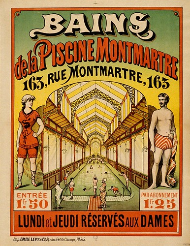 018- Baños en la piscina de Montmartre-Siglo XIX