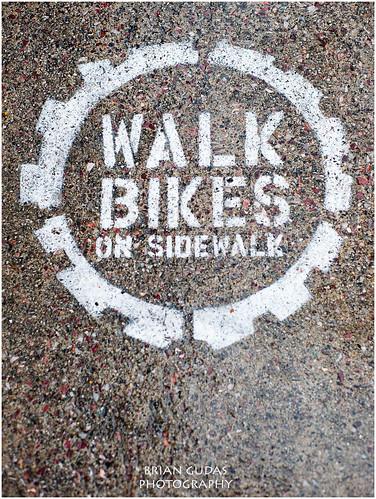 Burlington Vt – No bikes on Sidewalks (212/365)