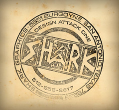 Shark Logo Circa 1982 (Howdy, I'm H. Michael Karshis) Tags: test illustration logo shark 1982 hmk rubberstamp hmkarshis sharkthang hmkarchive