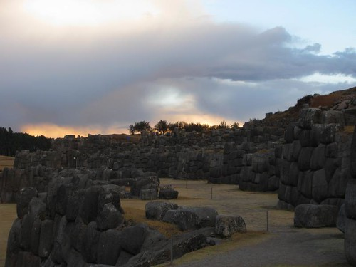 sunset at Sacsayhuaman