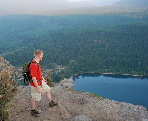 Overlooking Rattlesnake Lake from Rattlesnake Ledge