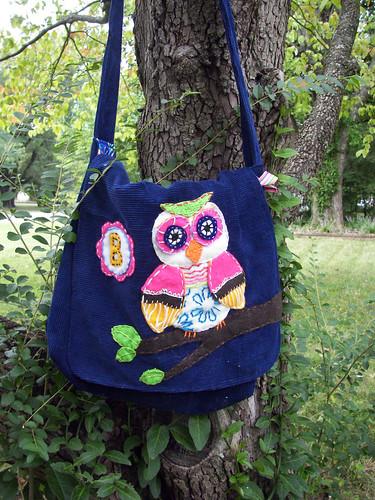 B's owl bag
