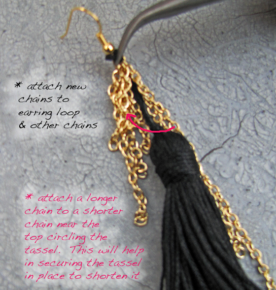 5-Step4-Chain-Tassel-Earrings