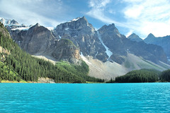 Magic Lake   (DSC_5299) (Albybear) Tags: lake canada mountains lago rocky banff rockymountains moraine morainelake