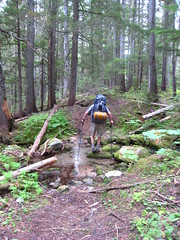 Cole on Long Canyon Trail, Selkirk Mountains, North Idaho.the