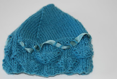 knitted baby hat decorated with ribbon (e.kristina) Tags: baby girl hat shop sale handmade etsy knitted soon knitwear