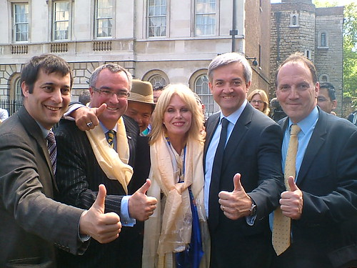 Joanna Lumley and Lib Dem MPs