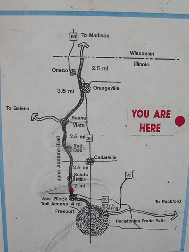 Jane Addams Trail Sign Map