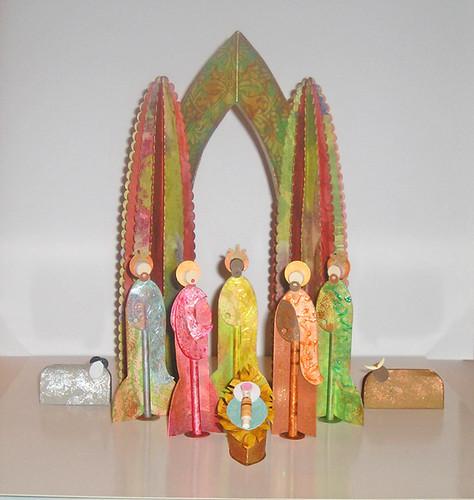 Jim's Nativity 2 - Paper Art