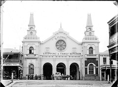 Borough Markets 75-77 Hunter Street, Newcastle, NSW, [1887-1915] (Cultural Collections, University of Newcastle) Tags: newcastle markets australia nsw marketplace fleming 1870 hunterstreet boroughmarkets hunterst ralphsnowball snowballcollection ralphsnowballcollection dflemingshippingandfamilybutcher dfleming newcastleboroughmarkets ralphsnowballstudio asgn0792b36 mayorwasparke newcastleregionnswhistorypictorialworks hotelsnewsouthwales photographynewsouthwalesnewcastle