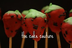 29. Lollipop Bites - strawberry (The Cake Couture (is currently not taking any orde) Tags: cupcakes strawberry stick couture  doha qatar       chocolateballs                    lollipopbites