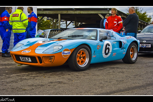 Ford Gt  Gulf Livery No  Low Front Quarter Shot