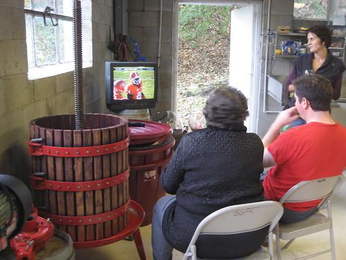 Watching the Georgia football game