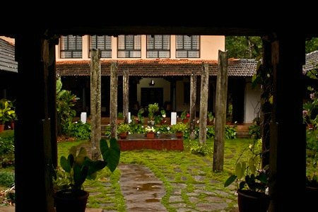 Chitra Aiyer - THe courtyard on entering, Ammadi homestay