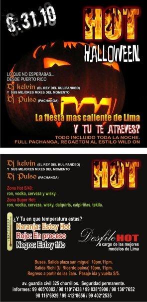 Hot Halloween - Chorrillos