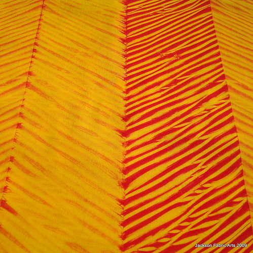 Saffron Yellow and Cayenne Red Shibori