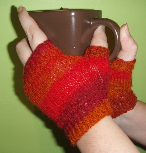 Handspun Self Designed Mitts