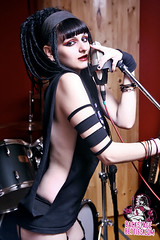 Deanna - Fillmore Slim (backstage betties) Tags: girls hot up rock model pin slim band fishnets roll fillmore backstage pinup groupies betties