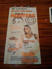 Hooters Karte Vorne