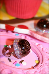 Cordially Yours (athinalabella1) Tags: pink cute glitter candy sweet chocolate girly sprinkles etsy athinalabella