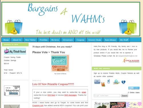 Bargains 4 WAHM's